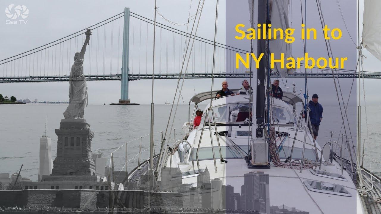 Sailing into NY harbour- liberty & ellis islands | SeaTV
