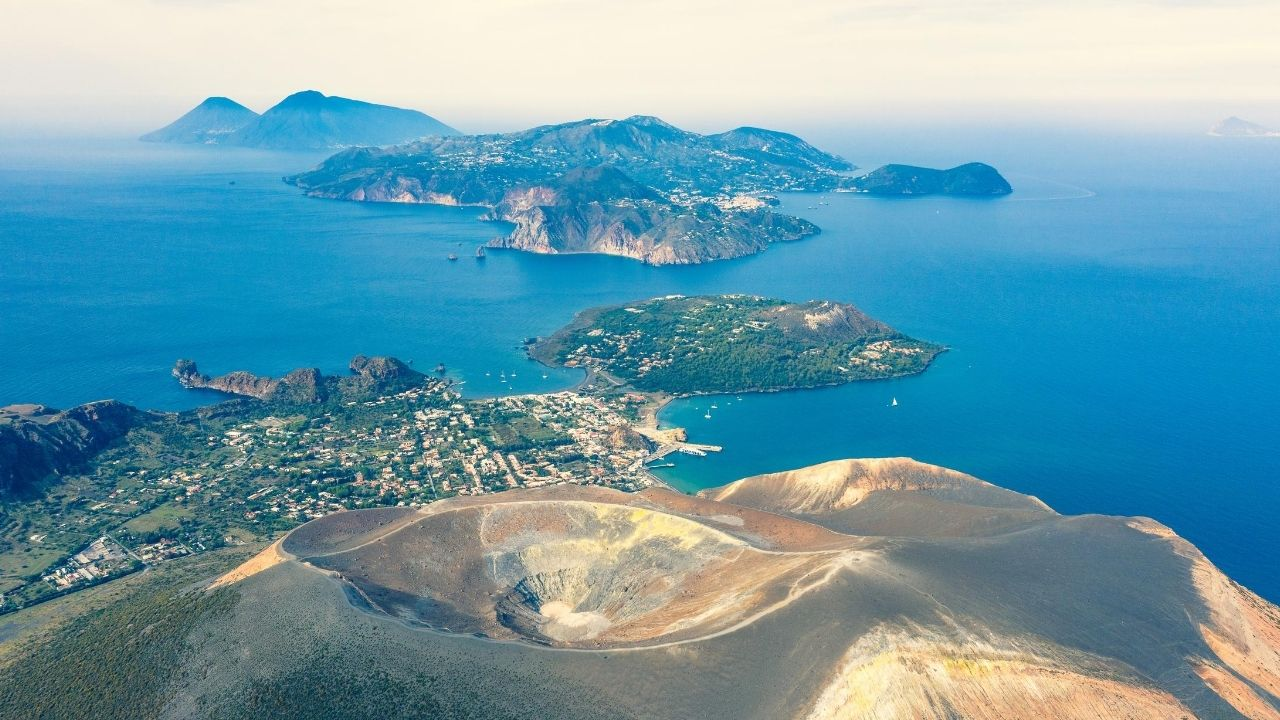 Vulcano island aeolian