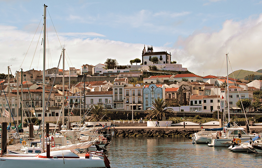 The marina of Sao Miguel, The Azores Islands, Portugal
